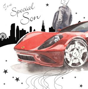 NES75 – Special Son Birthday Card Sports Car